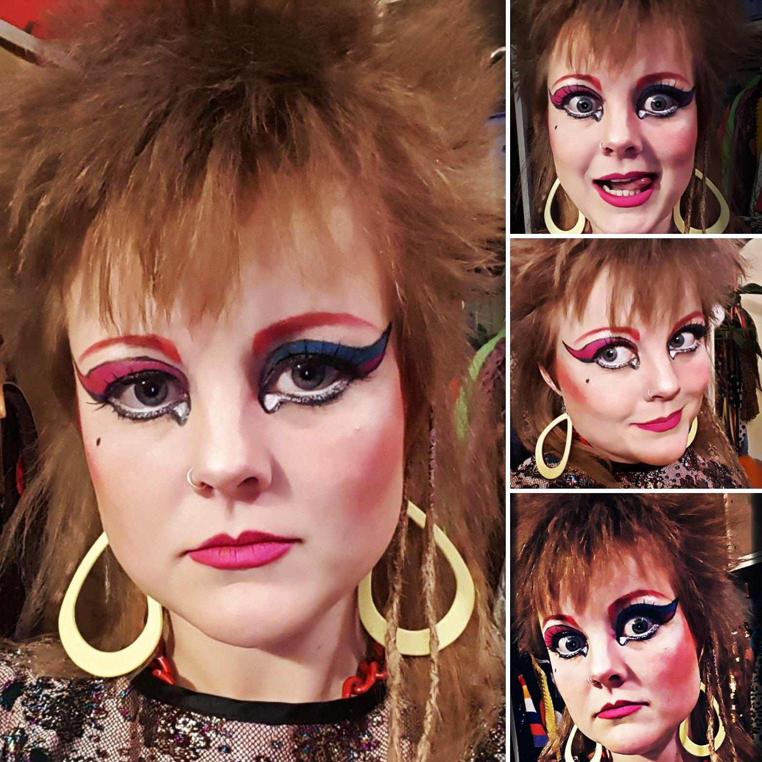 Eighties make-up