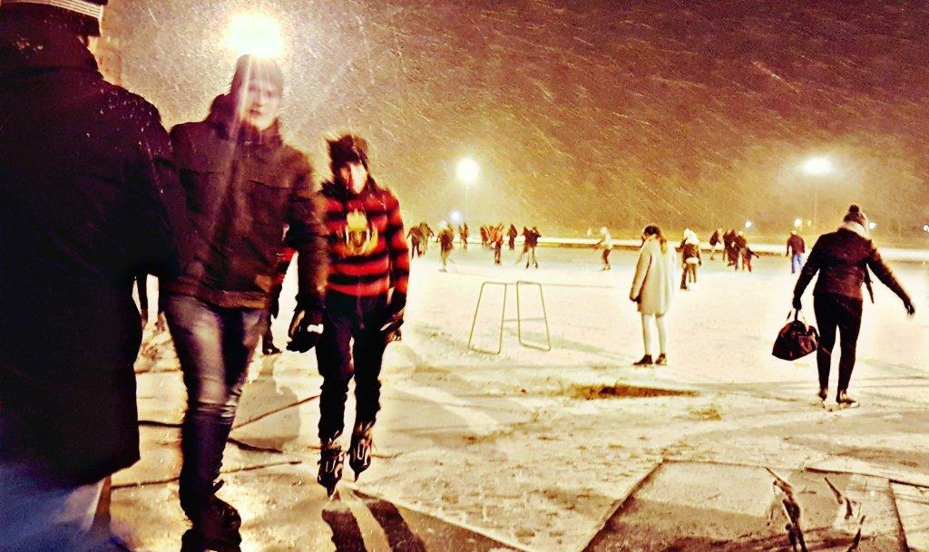 Sneeuw en schaatsen
