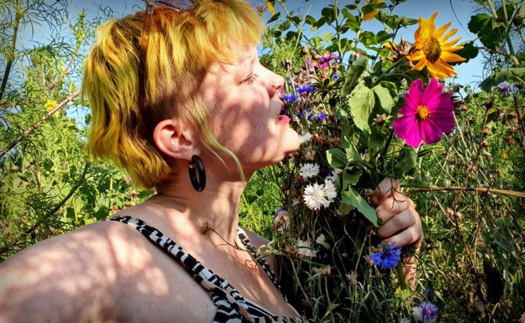 Bloemen plukrand